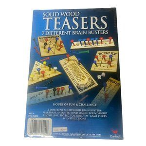 Cardinal Solid Wood Teasers Game 7 Different Game